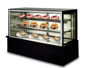 1.5m black marble cake fridge / 3 layer cake fridge display