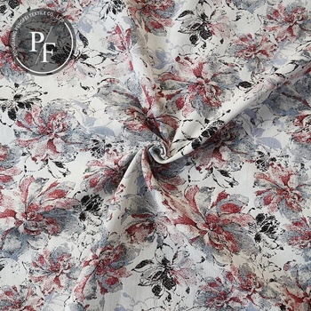 Buy fabric from China fabrics textile floral design 100 % polyester jacquard fabric