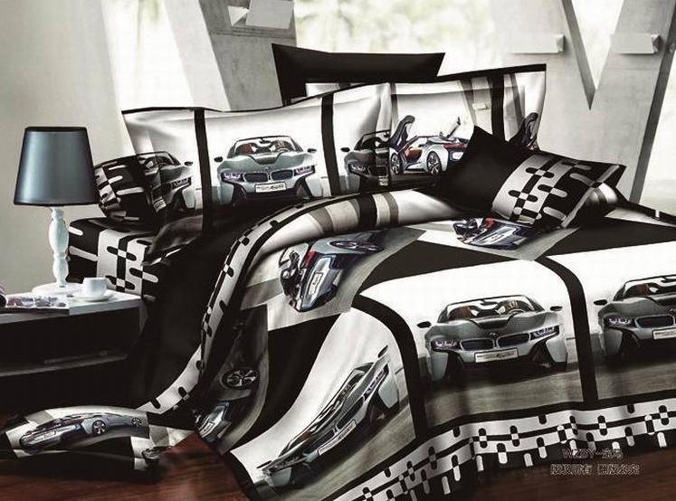 Car Bedding: Cars Boys Bedding Sets Race Car Queen Full Size Bedspread
