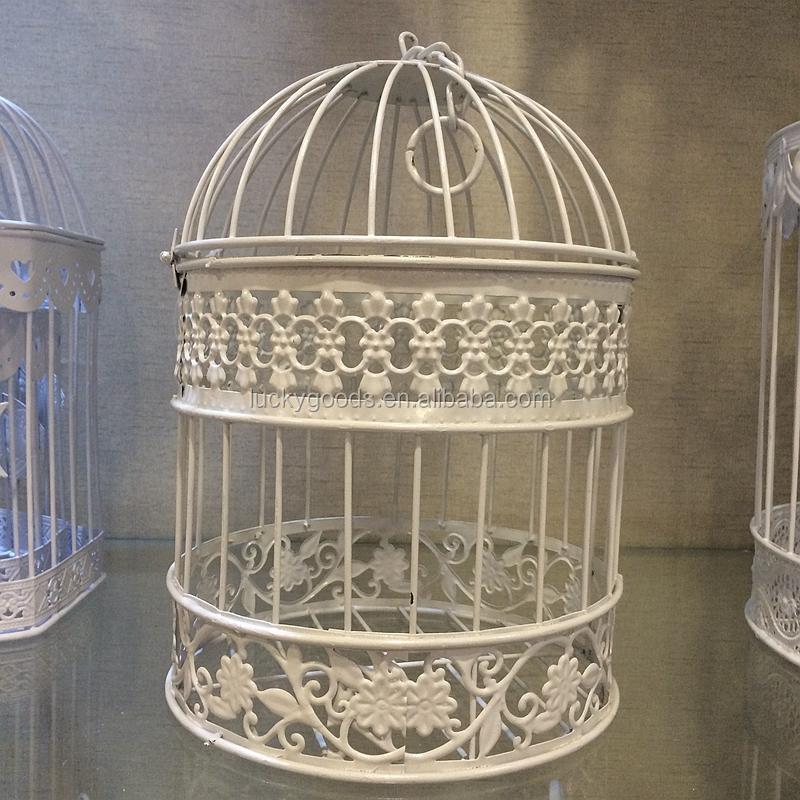 Hanging Cream White Decorative Make Bird Cage For Sale