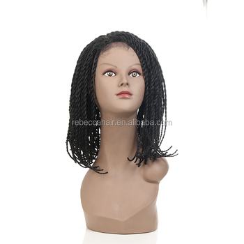 African American Lace Braid Bob Senegalese Style Cheap Braided Synthetic  Lace Front Wigs for Black Women 4cd5ae69d