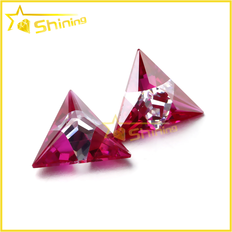 Triangle shape ruby new product mix color ruby