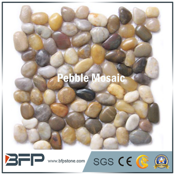 Natural Stone Pebble Mosaic Tile With Oval Shape