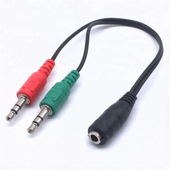 adaptateur audio et micro jack casque pour pc