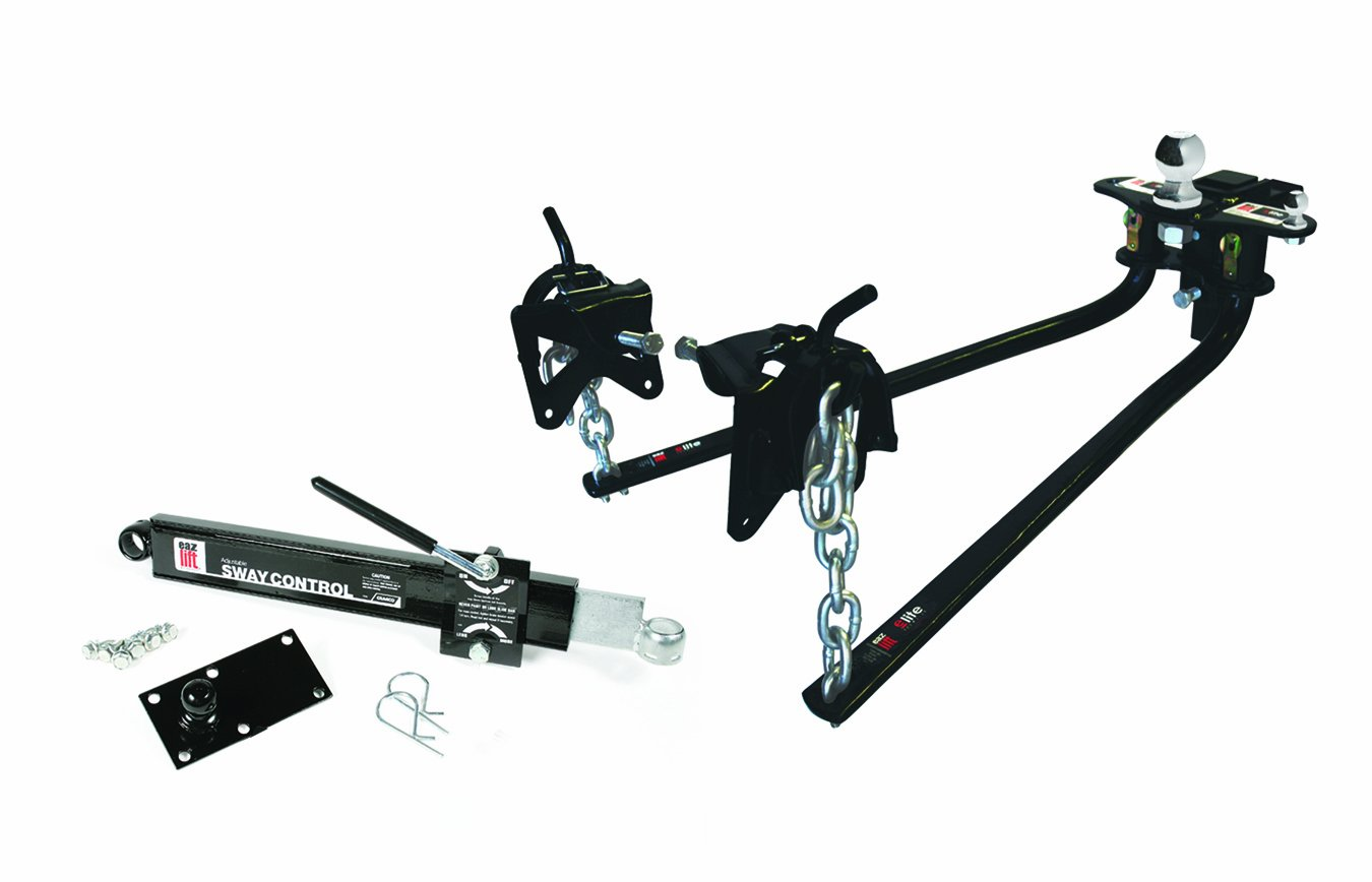 """Camco 48069 Eaz-Lift Elite Weight Distributing Hitch Kit, Includes Distribution Hitch, Sway Control and 2-5/16"""" Hitch Ball - 1,200 lbs Tongue Weight Capacity"""