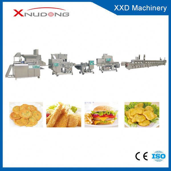 Automatic Beef Fish Pork Shrimp Chicken Nuggets Processing Line chicken nuggets processing line