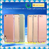 TPU diamond transparent clear gold chrome case for samsung galaxy s4