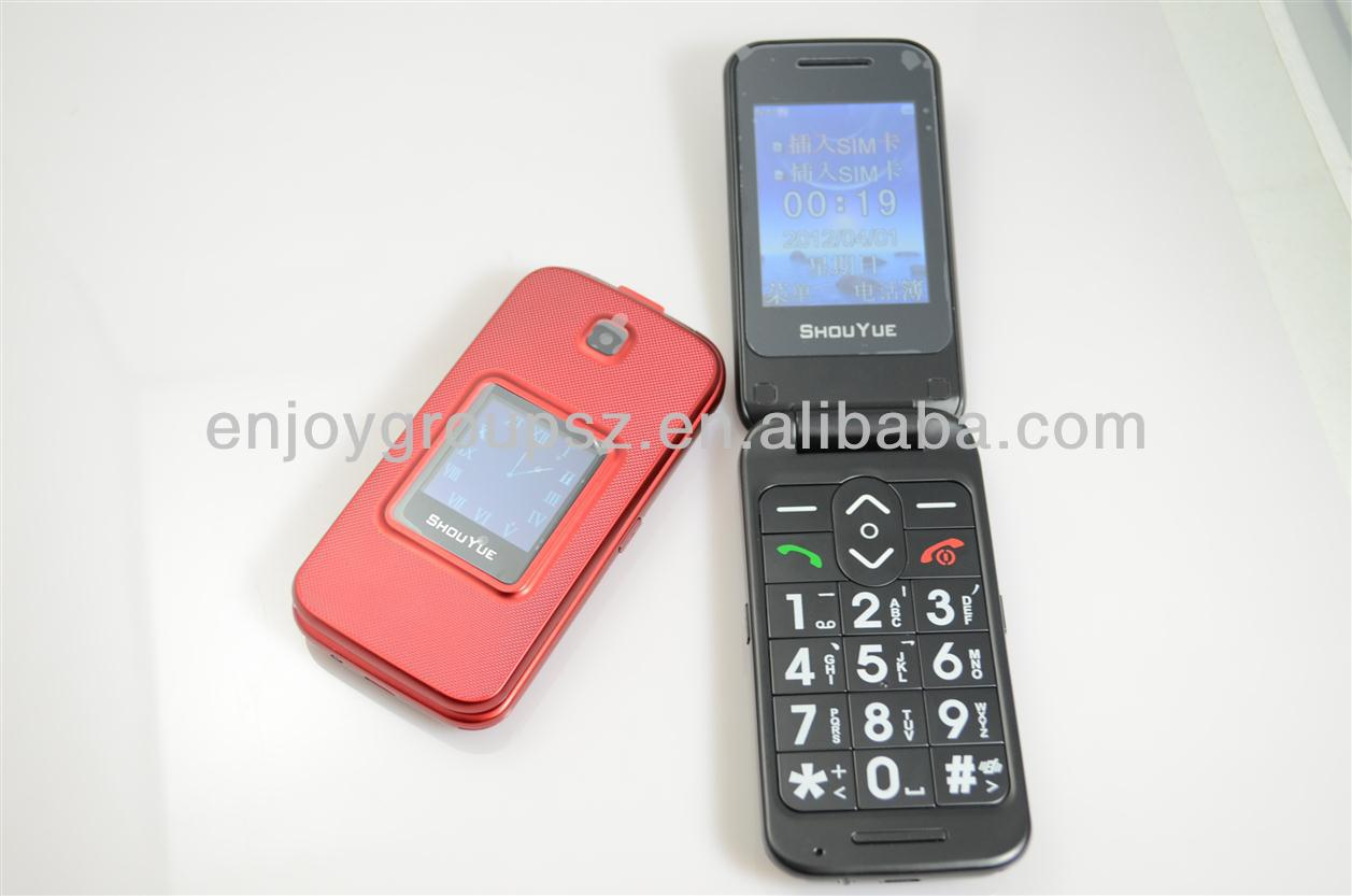3g sos emergency senior phone with 2.4inch dual sim card