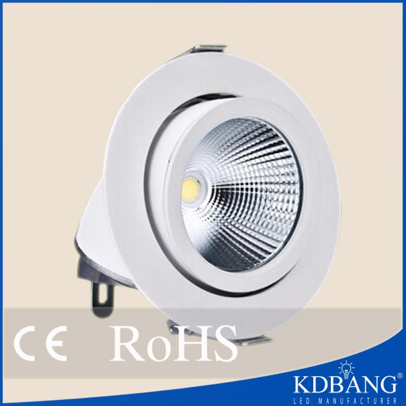 Adjustable recessed cob 50w led downlight