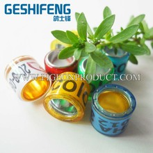 with hot selling with colorful and personal design racing pigeon ring birds ring for sale pigeon bird foot ring