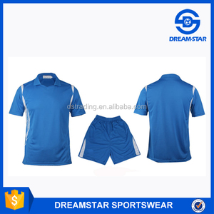 China Factory Produce Latest Design Blue Soccer Jersey With Thai Quality