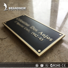 Name Plaques Custom Design Vintage Tomb Name Bronze Memorial Plaques