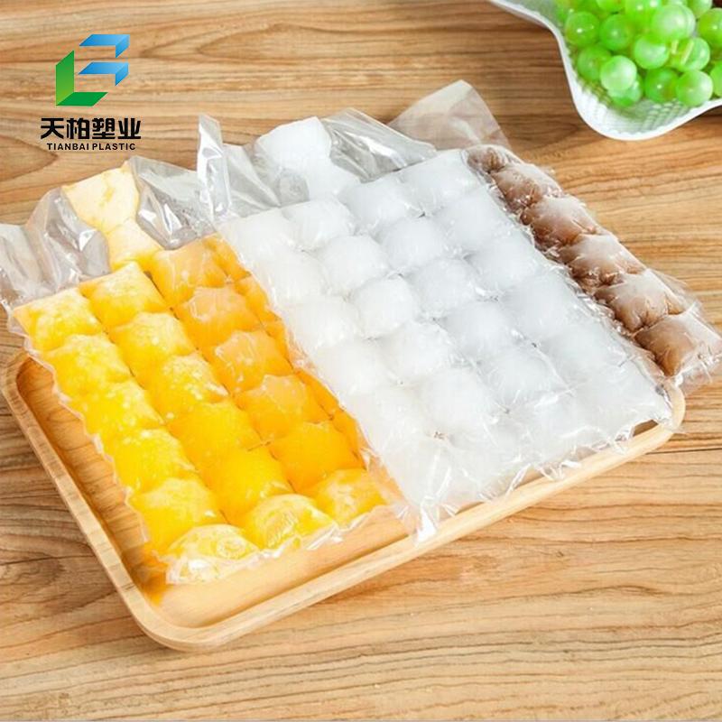 Jetable en plastique de qualité alimentaire matériau glaçon sac de haute qualité sac en plastique de cube de glace