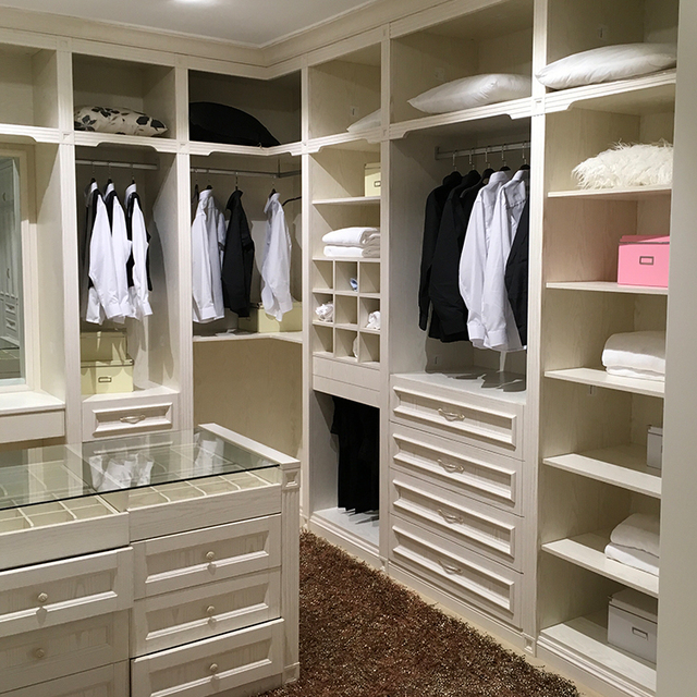 Chinese Manufacturer Custom Wine Bedroom Furniture Closet
