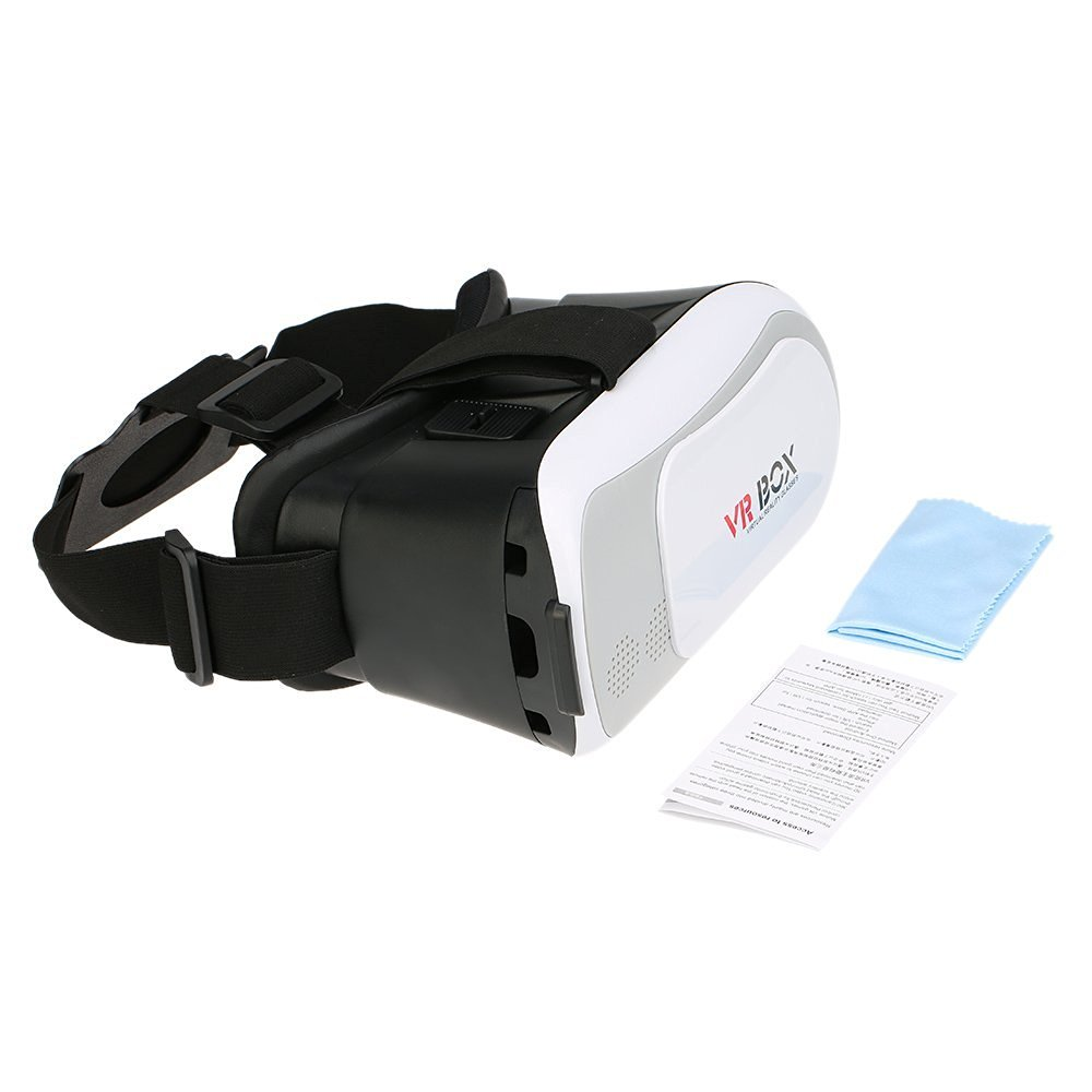 VR-02 Virtual Reality 3D Glasses 3D VR Glasses Universal immersive VR Box 3D Movies Games for 3.5 to 6.0 Inches Smart Phones