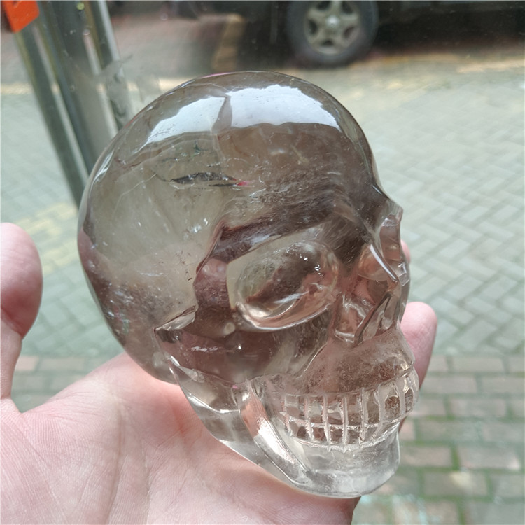 0.5 kg see through natural smoky quartz skulls crystal skulls