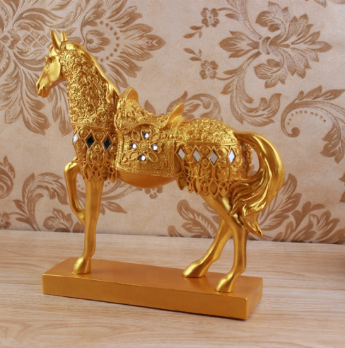 Art Alert Western Fengshui Art Deco Sculpture War Horse Steed Bronze Statue