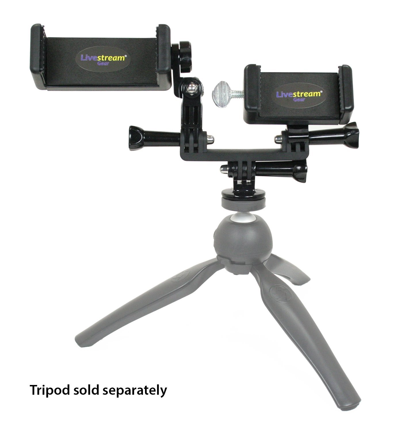 Livestream Gear® - PHABLET Chest Mount & Gooseneck Setup for Streaming or Video, to Fit Large Sized Devices like iPhone 6 Plus, Galaxy Note, + Pokemon Go. (Phablet Chest Mount)