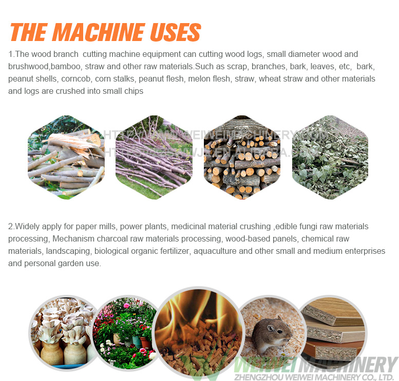 Weiwei यार्ड मशीन लकड़ी शाखा प्रवेश चूरा कोल्हू