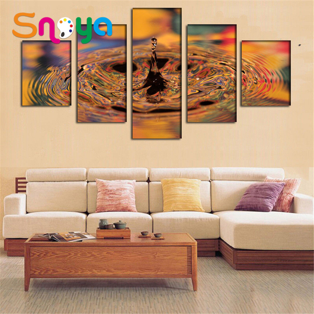 5 pcs poster Beautiful printing on canvas wall art custom home decor oil painting Modular images in hall