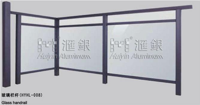 Barandilla De Vidrio De Aluminio Para Terraza Jardín