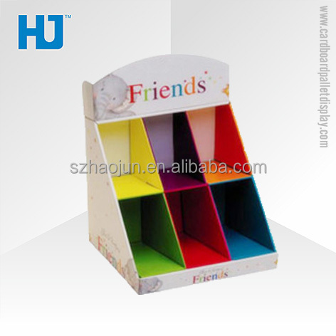 High Printing Quality Cardboard POP Display with Compartments