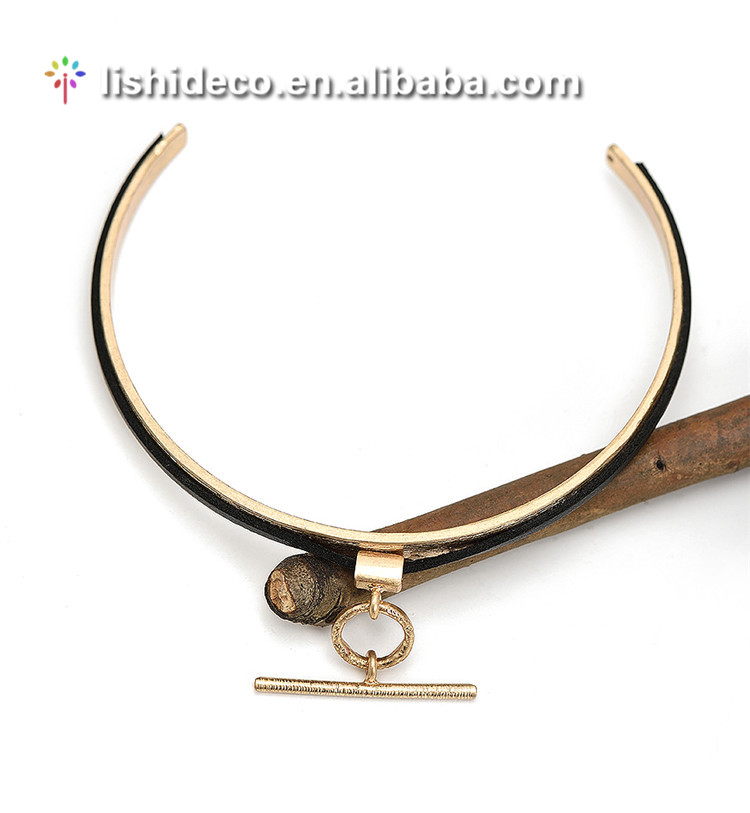 Women fashion metal pendant cuff choker necklace for punk style