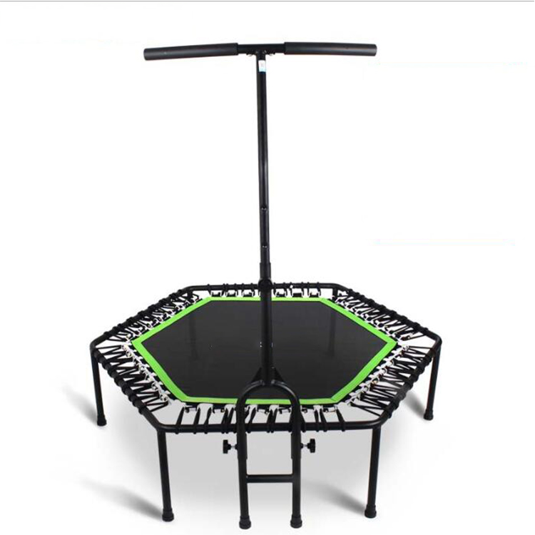 Trampoline with Bar Indoor Rebounder Trampoline for Adults Ideal for Cardio Workout Training at Home Bungee Rope System