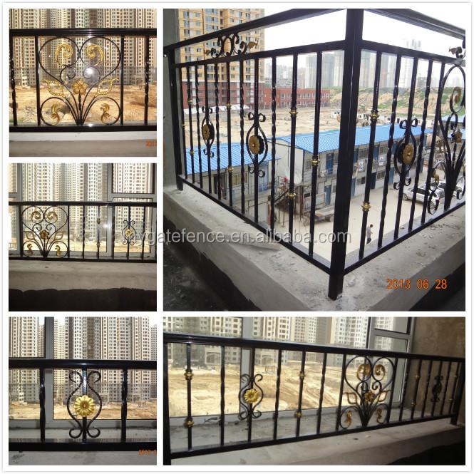 Yishujia Factory Popular Iron Grill Design For Veranda,Metal Balcony Handrails - Buy Metal ...