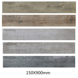 Hot sale and cheap glazed wood design ceramic floor tile 150X900