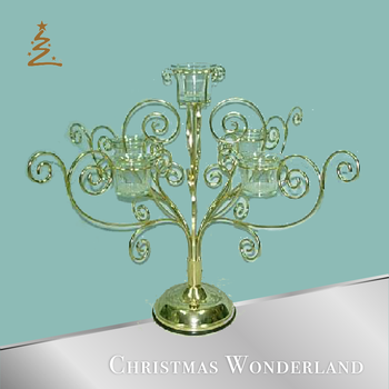 Wire Tabletop Christmas Votive Hanging Ornament Stand - Buy Votive ...
