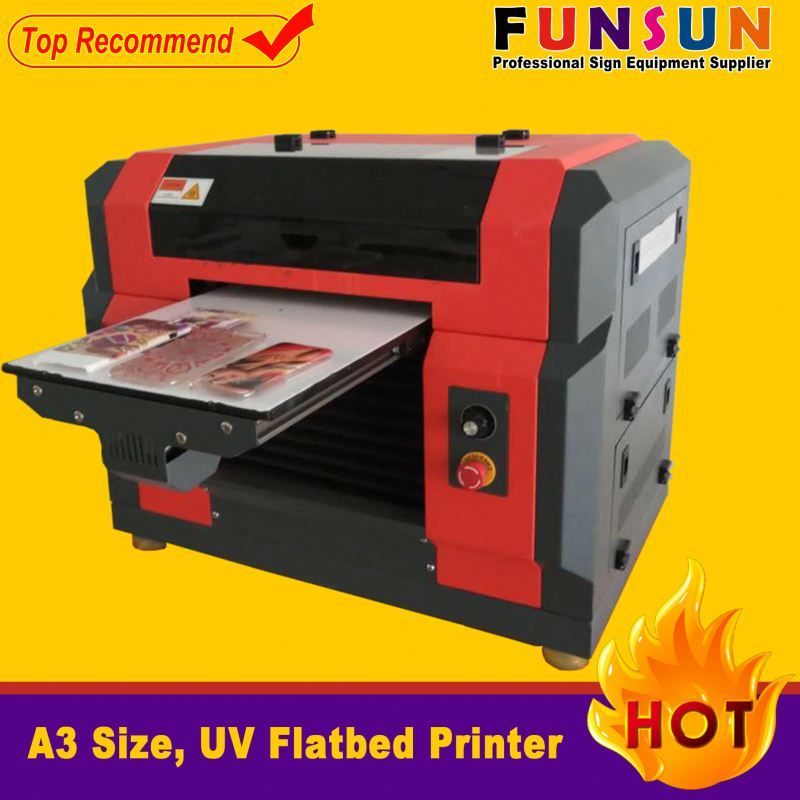 Funsunjet A3 size dx5 head 1440dpi rubber wristband printing machine uv printer