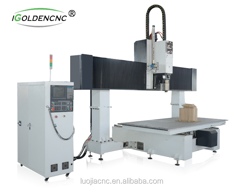 Top Quality Wood Metal Plastic Rubber Polyfoam cnc router 5axis  engraving and cutting machine with CE