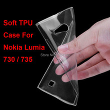 New Slim Crystal Clear Transparent Soft TPU Back Case Cover Protection Skin For Nokia Lumia 730 735