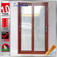 2016 latest window grill design glass door aluminum doors for kitchen with low price