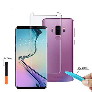 Bubble-free Liquid Full Adhesive UV Glass Screen Protector Full Glue 3d Hot Bending Tempered Glass For Samsung Galaxy S8