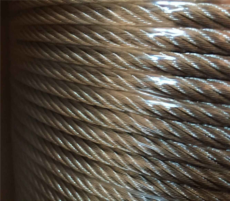 Anping cheap price galvanized steel wire rope 10mm of 1000m/roll