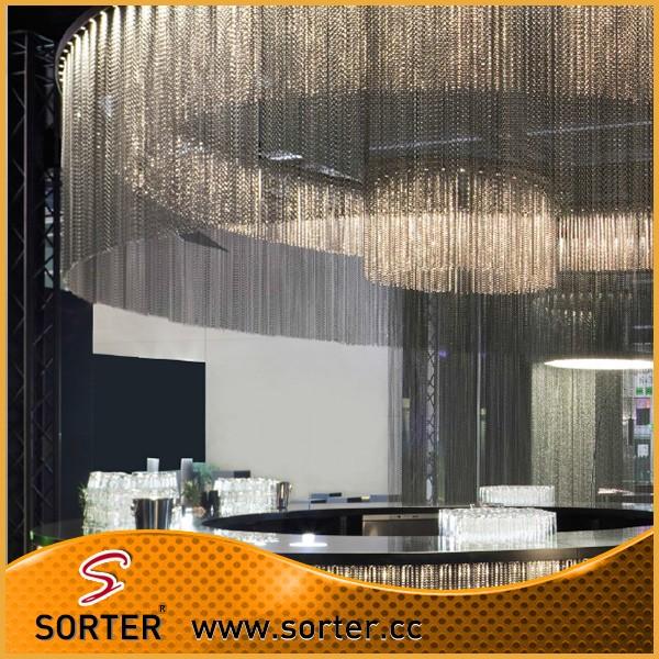 Home Decor Hot Sale Fashion Design Hanging Metal Bead Curtain