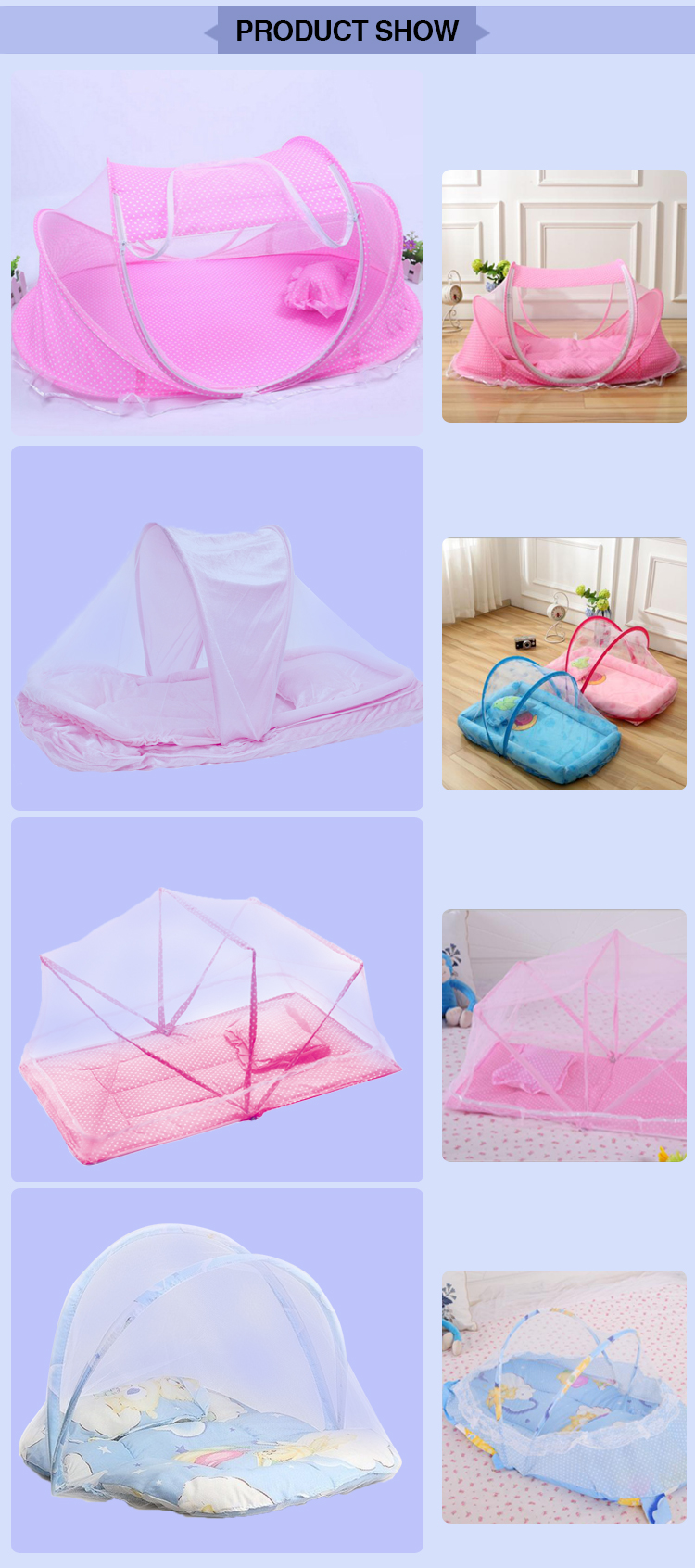 Anti-mosquito Block the dust baby cot mosquito net with polyester mesh
