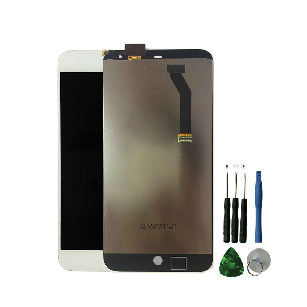 "5.1"" White For MEIZU MX3 LCD display +Digitizer Touch Screen For Meizu MX3 M055 MX065 lcd Assembly without frame"