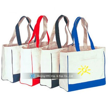 2017 Cotton Canvas Tote Bags Bulk Reusable Ping Carring