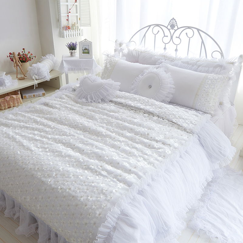 beautiful white queen size beds from us stores | Aliexpress.com : Buy Cotton Luxury Beautiful princess ...
