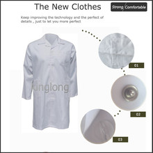 Best quality hospital plain uniform fabric textile doctor's overall