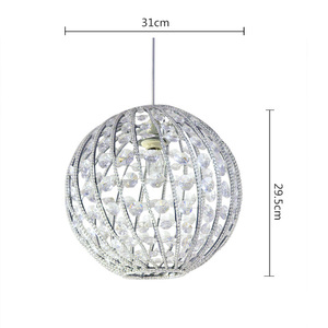 Contemporary style acrylic beads metal ball light cover