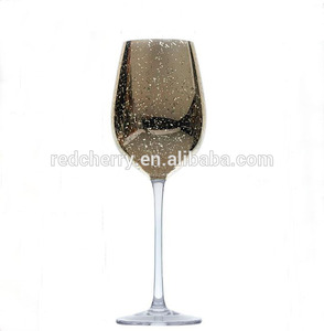 500 ml crystal glass red wine glasses broken beautiful glass gold/silver plating red wine glasses