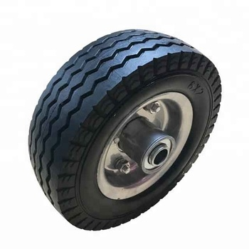 Flat Free Polyurethane Foam Wheel Used For Hand Truck