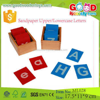 Preschool Wooden Block Letters Educational Montessori Language