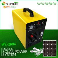 Bluesun 12VDC 50W-100W portable solar panel charger MP3/SD/USB/TV/AV/VGA/HDMI function solar panel kits