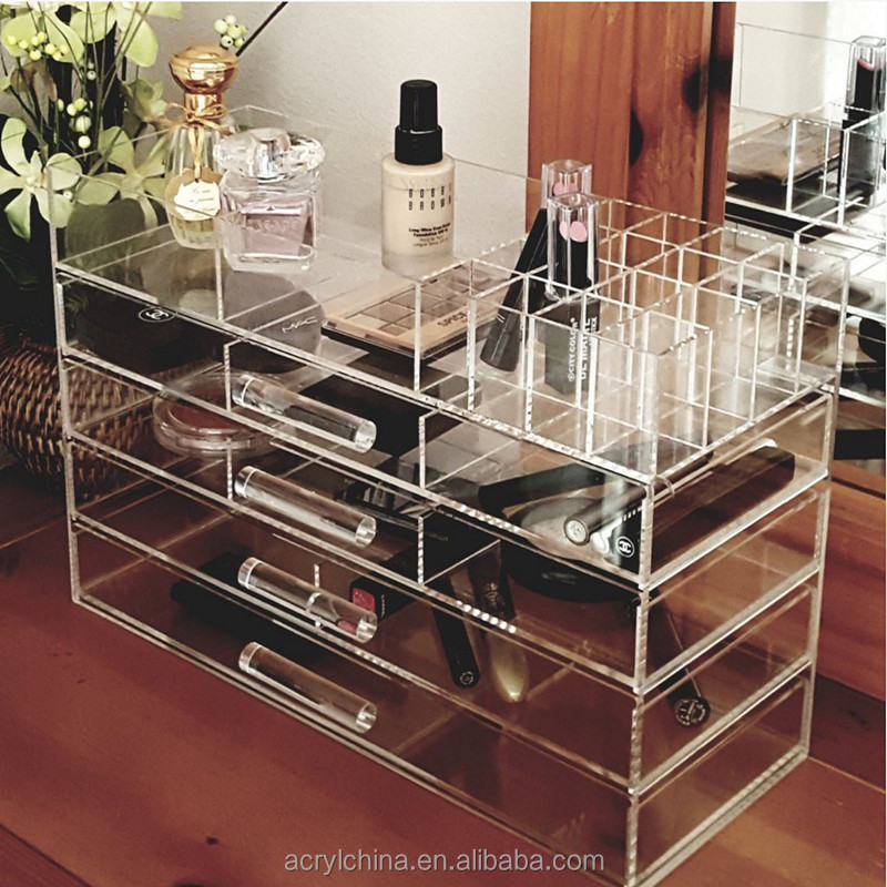 Clear Jewelry Cosmetic Holder Acrylic