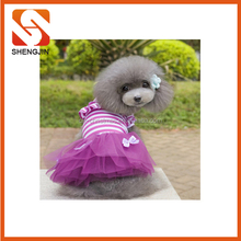 SJ-L6055 Hot sell Pet Princess Clothes Dog Wedding Dress